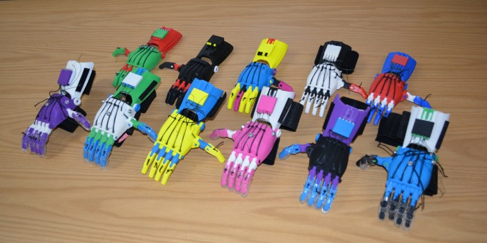 a set of prosthetic hands