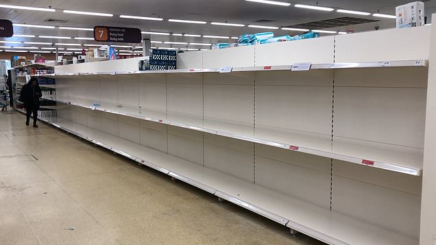 picture of empty shelves
